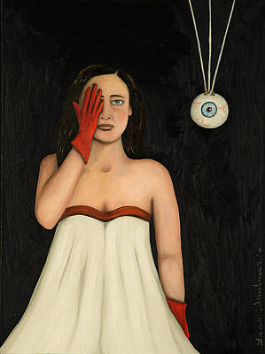 Her Wandering Eye 2 Art Print by Leah Saulnier The Painting Maniac