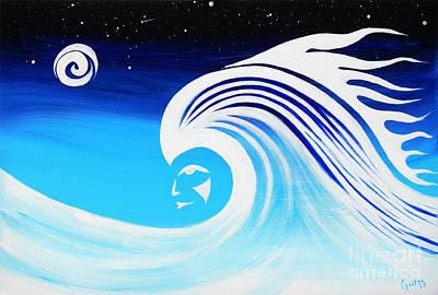 Painting - Her Wave by A Cyaltsa Finkbonner
