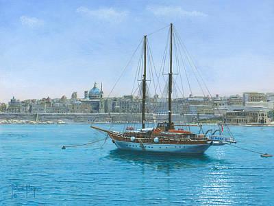 Hera Painting - Hera 2 Valletta Malta by Richard Harpum