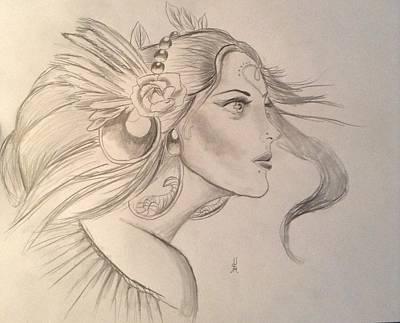 Hera Drawing - Hera by Shelby Rawlusyk