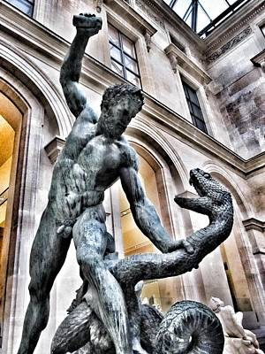 Photograph - Heracles Fighting Achelous - Louvre Museum Paris France by Marianna Mills