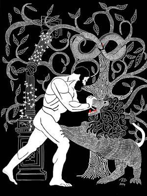 Pillars Of Hercules Digital Art - Heracles by Rebecca Berger