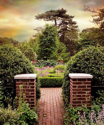 Rural Digital Art - Herb Garden Entrance by Jessica Jenney