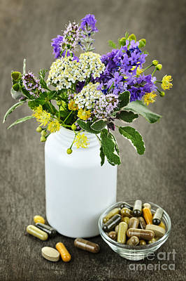 Flower Blooms Photograph - Herbal Medicine And Plants by Elena Elisseeva