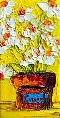 Ingredients Painting - Herbal Tea Camomile Plant by Patricia Awapara