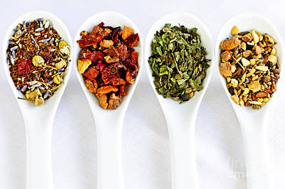 Healing Photograph - Herbal Teas by Elena Elisseeva