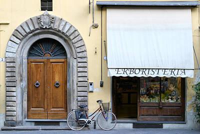 Herbalist Shop Lucca Tuscany Art Print by Mathew Lodge