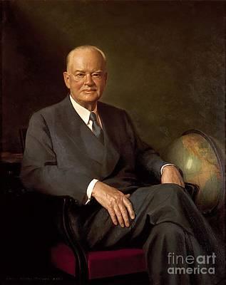 Herbert Hoover Painting - Herbert Hoover by Wesley Greene