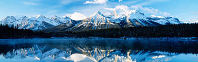 Magnificent Mountain Image Photograph - Herbert Lake, Banff National Park by Panoramic Images