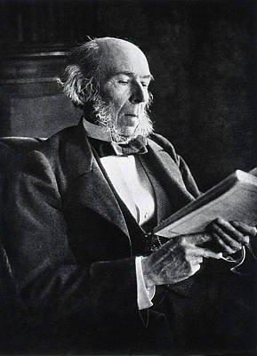 Sociology Photograph - Herbert Spencer by National Library Of Medicine