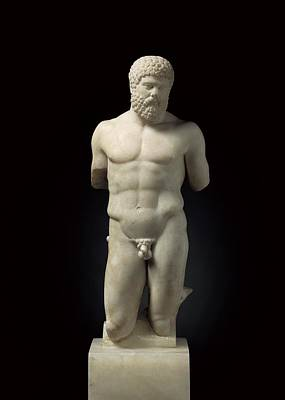 Statue Portrait Photograph - Hercules. 5th C. Bc. Roman Copy. Greek by Everett