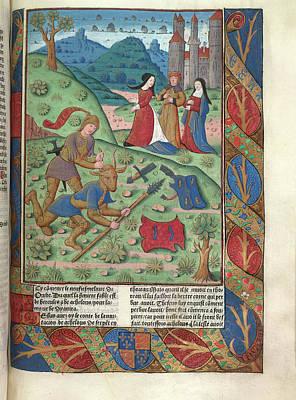 Hercules And Achelous Art Print
