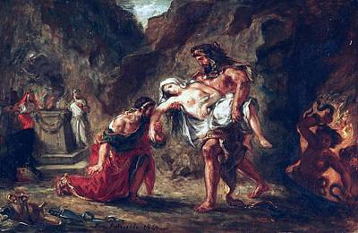 Hercules And Alcestis Print by Eugene Delacroix