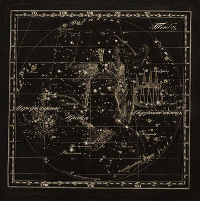 Hercules Constellations, 1829 Art Print