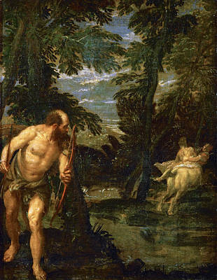 Centaur Painting - Hercules Deianira And The Centaur Nessus by Paolo Veronese