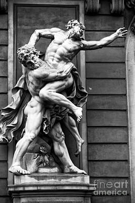 Photograph - Hercules Fighting Antaeus by John Rizzuto
