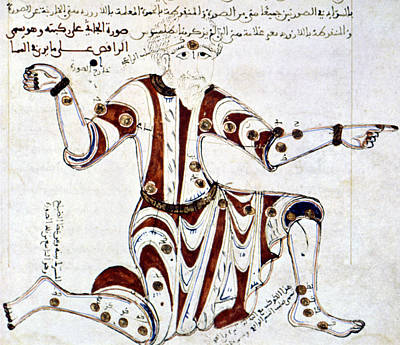 Constellation Painting - Hercules (the Kneeler) From Arabic by Granger