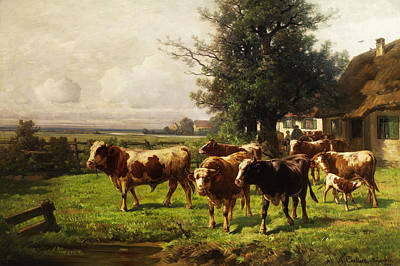 Herd Of Cows Art Print