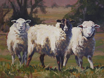 Wall Art - Painting - Herd Of Three by Lanie Frick