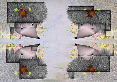 Digital Art - Here A Hedgehog There A Hedgehog by Liane Wright