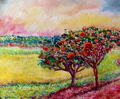 Painting - Here And There by Aditi Bhatt