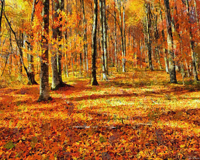 Painting - Here Comes Fall by Joe Misrasi