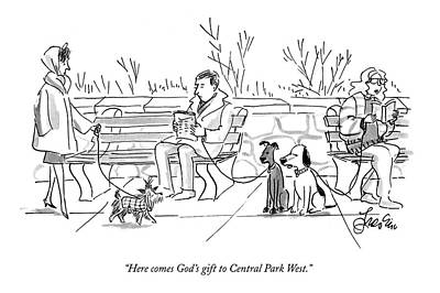 Here Comes God's Gift To Central Park West Art Print