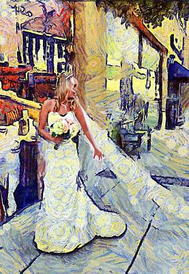 Digital Art - Here Comes The Bride by Carrie OBrien Sibley