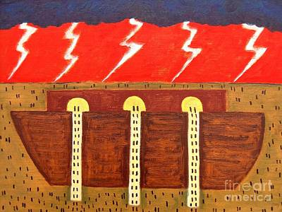 Noahs Ark Painting - Here Comes The Flood by Patrick J Murphy