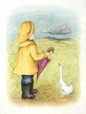 Here Comes The Rain Art Print by Diane Smith