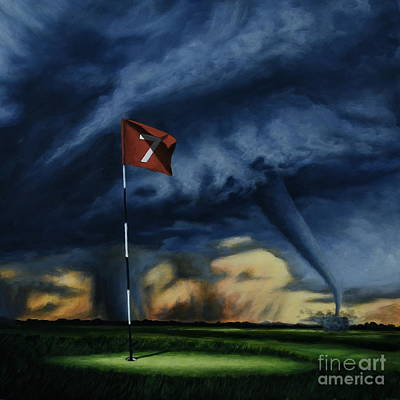 Painting - Here Comes The Storm II by Ric Nagualero