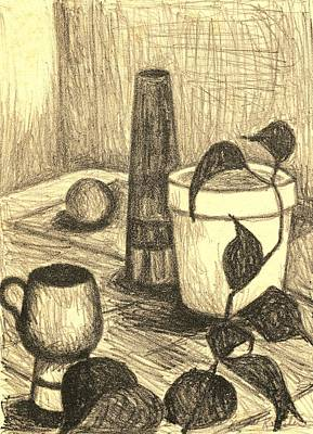 Still Life Drawings - Here is the Flashlight by Kendall Kessler
