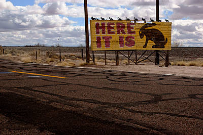 Photograph - Here It Is Billboard by Daniel Woodrum