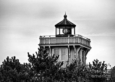 Photograph - Hereford Inlet Light In Black And White by Mark Miller