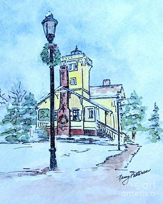 Painting - Hereford Inlet Light In The Snow  by Nancy Patterson