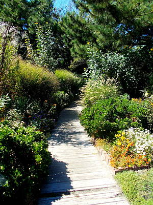 Photograph - Hereford Inlet Lighthouse Garden Walkway by Pamela Hyde Wilson
