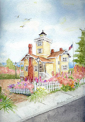 Painting - Hereford Inlet Lighthouse by Marlene Schwartz Massey