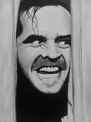 The Shining Painting - Here's Johnny by Amanda DeVillers