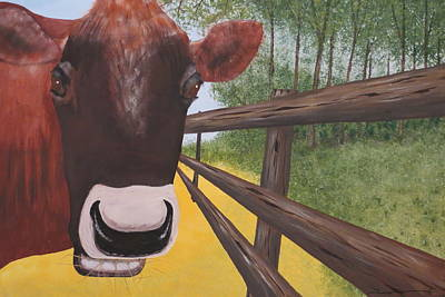 Here's Looking At Moo Art Print by Tim Townsend