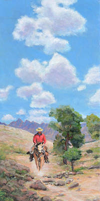 Here's To Blue Skies And Easy Trails Art Print by Charles Wallis