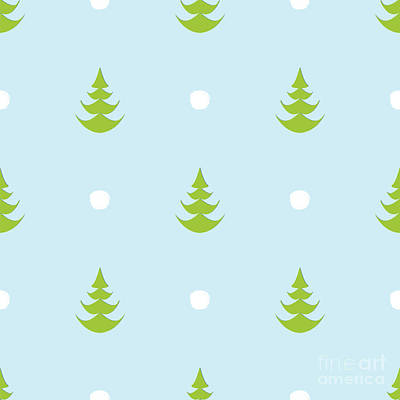 Tree Digital Art - Herherringbone Snow Creative Abstract by Istorsvetlana