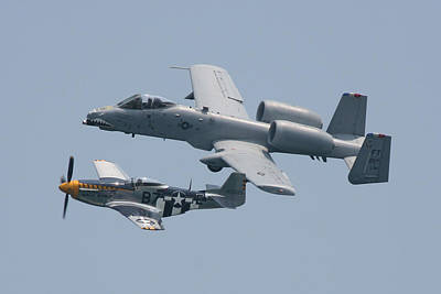 Photograph - Heritage Flight A10 And P51 2 by Donna Corless