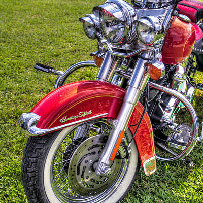 Heritage Softail Art Print by Tim Stanley