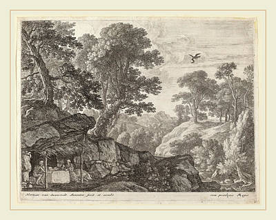 Herman Van Swanevelt, Saint Paul And Saint Anthony Fed Print by Litz Collection