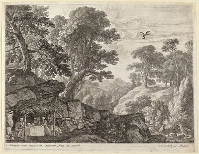 Herman Van Swanevelt, Saint Paul And Saint Anthony Fed Print by Quint Lox