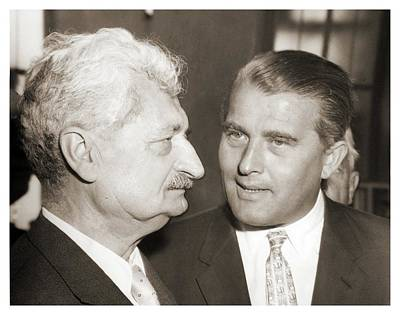V2 Rocket Photograph - Hermann Oberth And Wernher Von Braun by Detlev Van Ravenswaay