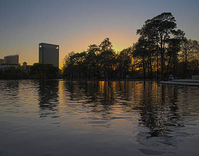 Photograph - Hermann Park Sunset One by Joshua House