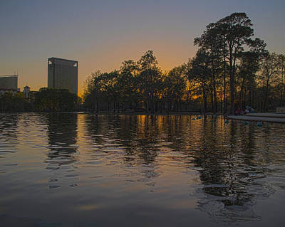 Photograph - Hermann Park Sunset Two by Joshua House