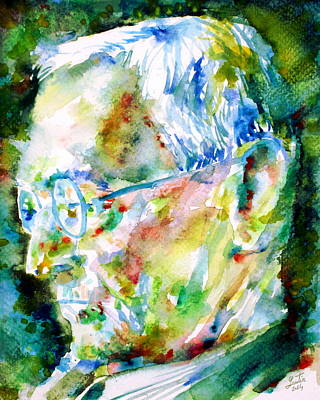 Hermann Hesse Painting - Hermann Hesse - Watercolor Portrait.1 by Fabrizio Cassetta