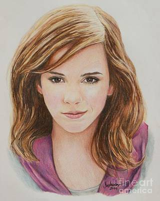 Drawing - Hermione / Emma Watson by Christine Jepsen